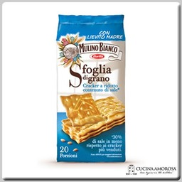 Mulino Bianco Mulino Bianco Crackers Sfoglia di Grano Low Salt 17.6 Oz (500g)