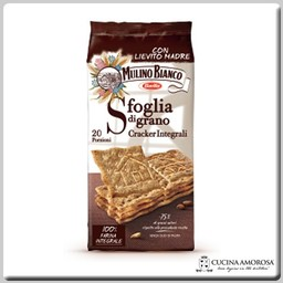 Mulino Bianco Mulino Bianco Crackers Sfoglia di Grano Integrali / Whole Wheat 17.6 oz (500g)