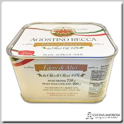 Agostino Recca Agostino Recca Fillets of Anchovies in Olive Oil 25 Oz (710g) Tin