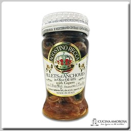 Agostino Recca Agostino Recca Fillets of Anchovies With Capers in Olive Oil 3.35 OZ Jar