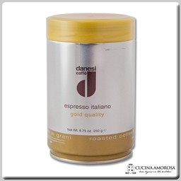 Danesi Caffe Danesi Caffe' Ground Espresso Italiano Gold 8.8 Oz Tin