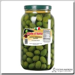 Frutto D'Italia Frutto D'Italia Green Cerignola Olives 4.2 Lbs (1.9kg) Jar