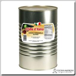 Frutto D'Italia Frutto D'Italia Green Cerignola Olives 5.5 Lbs Tin