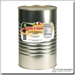 Frutto D'Italia Frutto D'Italia Black Cerignola Olives 5.5 Lbs Tin