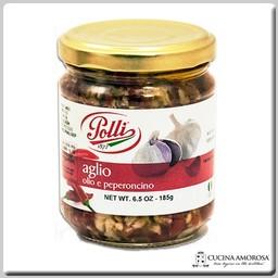 Polli Polli Garlic and Spicy Peppers 6.5 Oz Jar