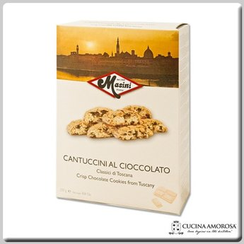 Masini Masini Tuscan Artisan Cantuccini with Chocolate Chips 8.8 Oz