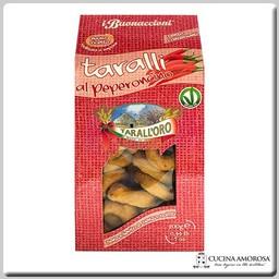 Tarall'oro Tarall'Oro Taralli  Peperoncino - Red Pepper 7 Oz Box (200g)