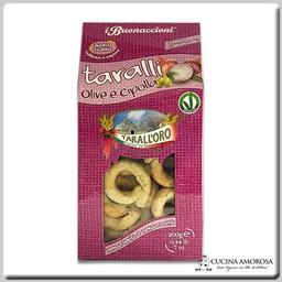 Tarall'oro Tarall'Oro Taralli Olives & Onions 7 Oz Box (200g)