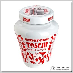 Toschi Toschi Amarena Cherries Fruit in Syrup 18 Oz Jar Anforetta