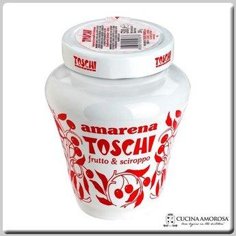 Toschi Toschi Amarena Cherries Fruit in Syrup 18 Oz Jar Anforetta