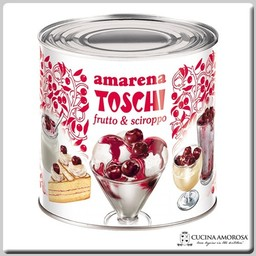 Toschi Toschi Amarena Cherries in Syrup 6 Lbs Tin