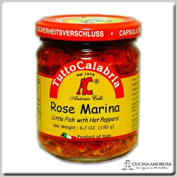 TuttoCalabria TuttoCalabria Rose Marina Little Fish with Hot Peppers 6.7 Oz