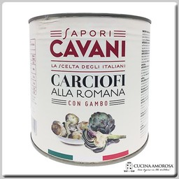 Cavani Cavani Arthichokes Roman Style with Stem Net Weight 88.19 Oz (2500g)