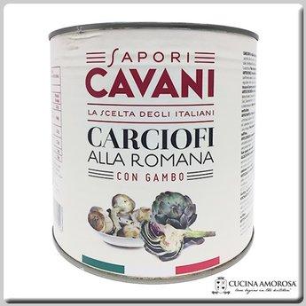 Cavani Cavani Artichokes Roman Style with Stem Net Weight 88.19 Oz (2500g)