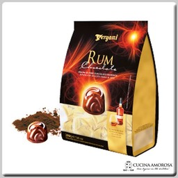 Vergani Crema Rum with Dark Chocolate Praline Bag (250g) 7 Oz