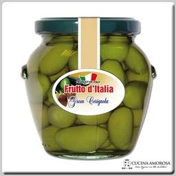 Frutto D'Italia Frutto D'Italia Green Cerignola Olives Drained 12.35 Oz (350g) Jar
