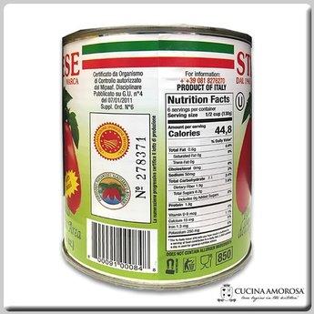 Strianese Strianese Italian San Marzano DOP Peeled Tomatoes w/Basil 28 Oz Tin (Case of 12)
