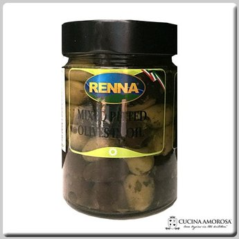 Renna Renna Mixed Pitted Olives 10.5 Oz Jar