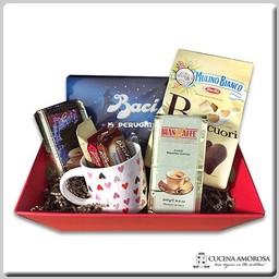 "Cucina Amorosa Gift Box ""Caffe' & Chocolate Lovers"