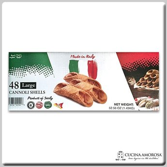 Cucina Amorosa Cucina Amorosa Large Cannoli Shells Made in Sicily (Case of 48 Count)