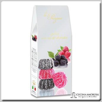 Silagum Le Preziose Gelèes with Mix Fruits: Blackberry & Raspberry Flavors 7 Oz (200g) Gift Box