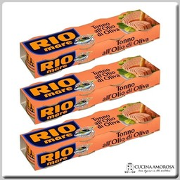Rio Mare Rio Mare Tuna in Olive Oil 4 x 2.82 Oz Tin (4 x 80g) (Pack of 3)
