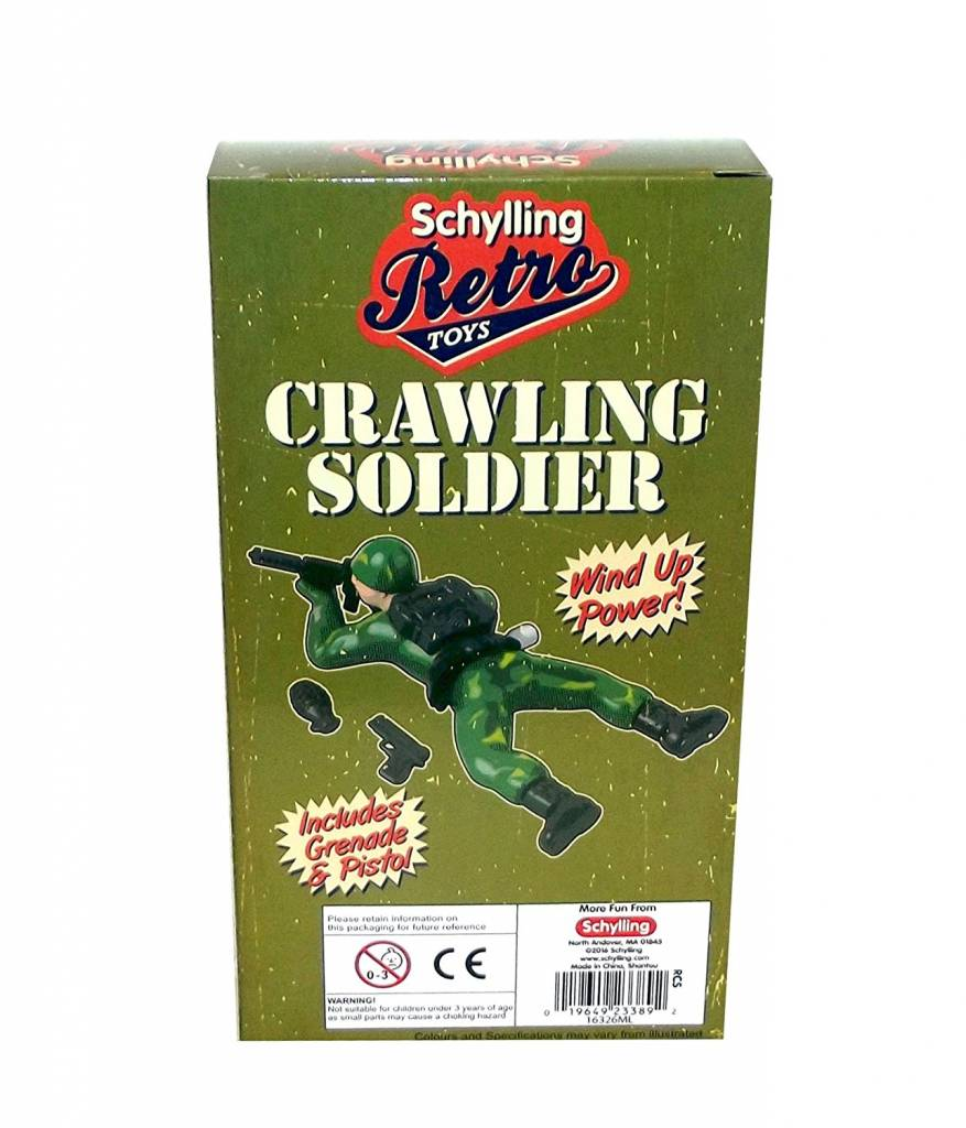 Schylling Retro Crawling Soldier