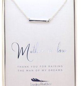 Lucky Feather Best Day Ever Necklace/ Mother Of The Groom