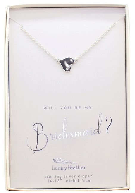 Lucky Feather Best Day Ever Necklace/ Will You Bridesmaid