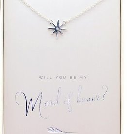 Lucky Feather Best Day Ever Necklace/ Will You Maid Of Honor