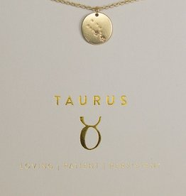 Lucky Feather Necklace / Zodiac Taurus