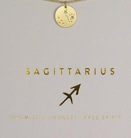 Lucky Feather Necklace / Zodiac Sagittarius