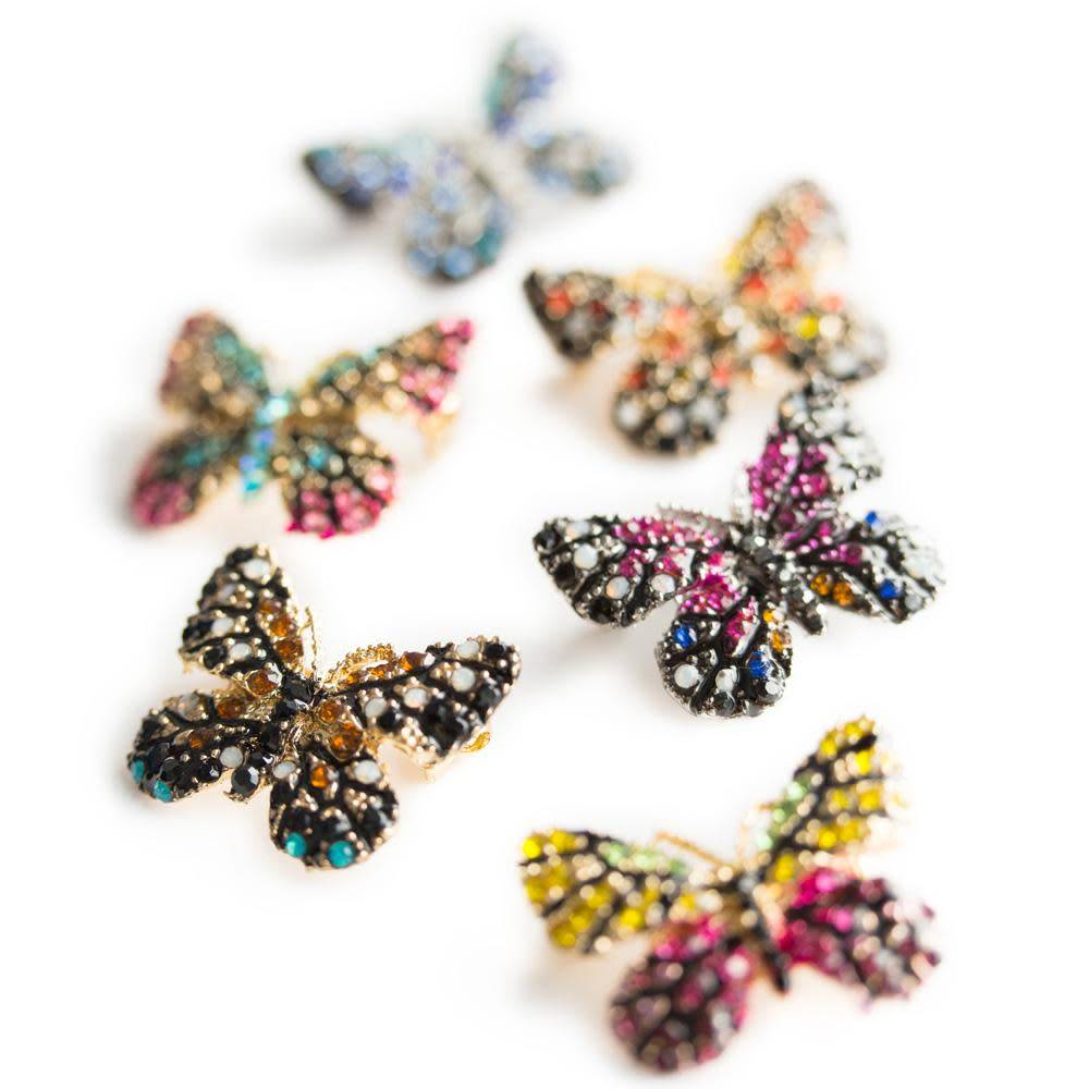 "Roman Pin/ Butterfly 1"" Assorted Colors"