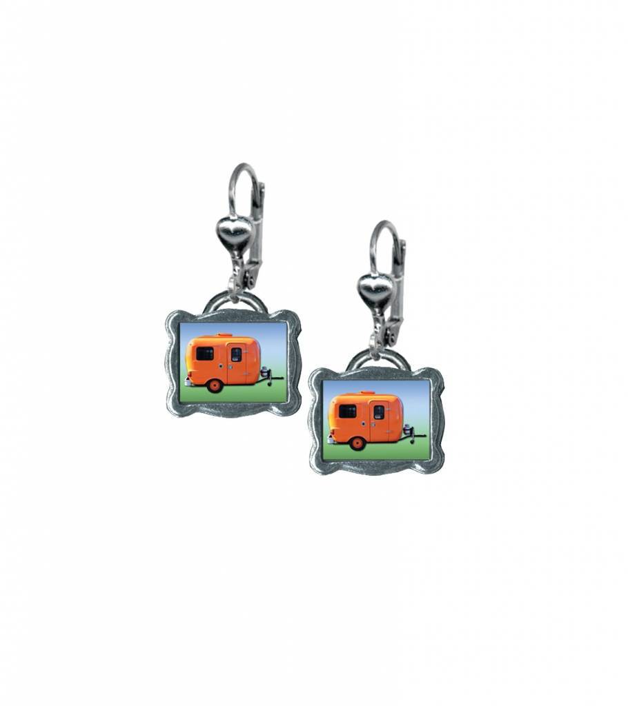 Classic Hardware Earrings/ Trailerware Orange