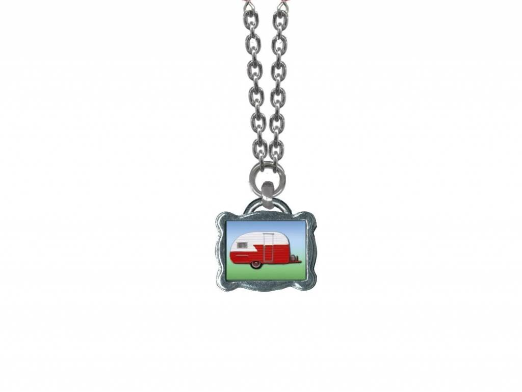 Classic Hardware Necklace/ Trailerware Red No Beads