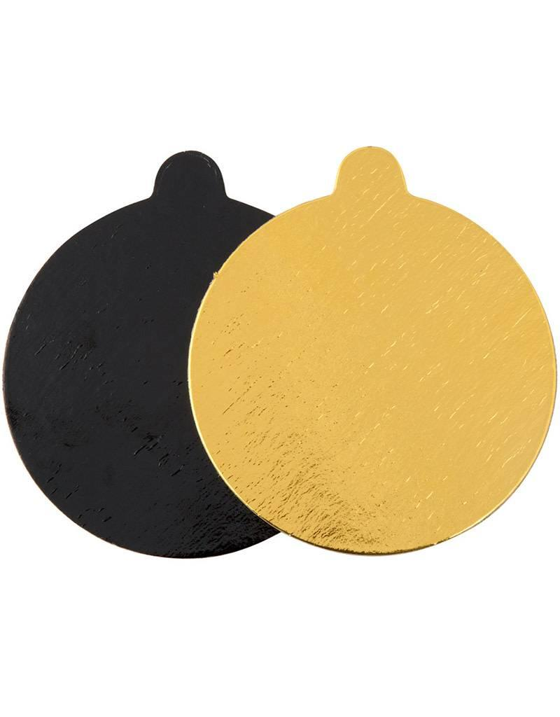 Enjay - Mono board - round, Gold and Black reversible - 4\'\' (500ct ...