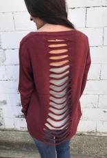 Pumpkin Back Detail Sweater