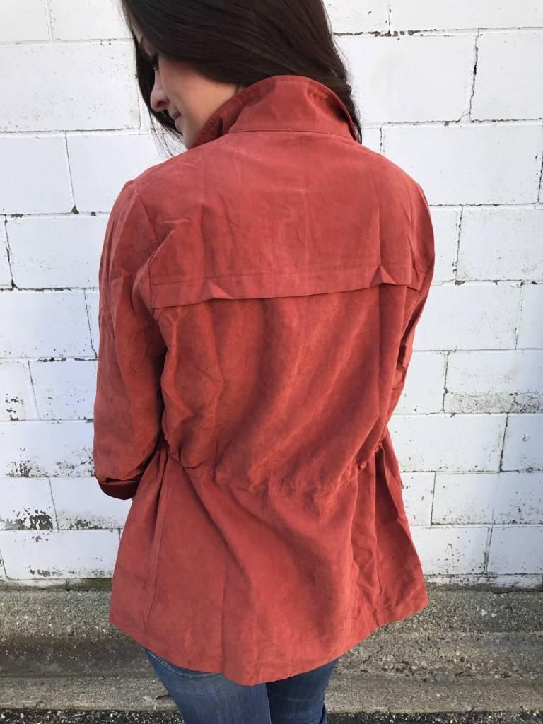 Brick Suede Jacket