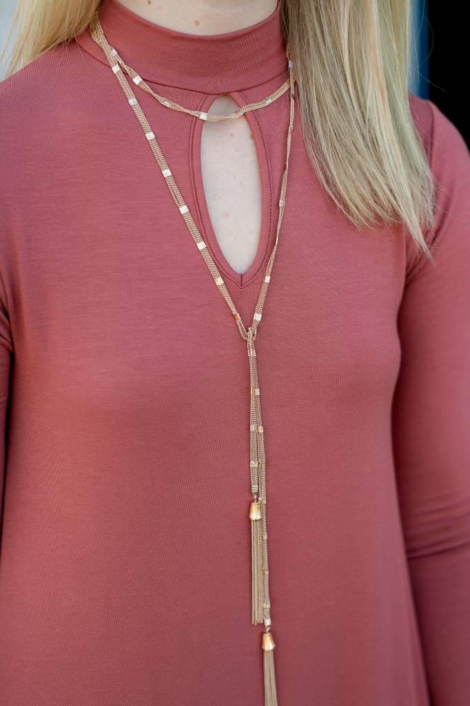 Gold Choker Layered Necklace