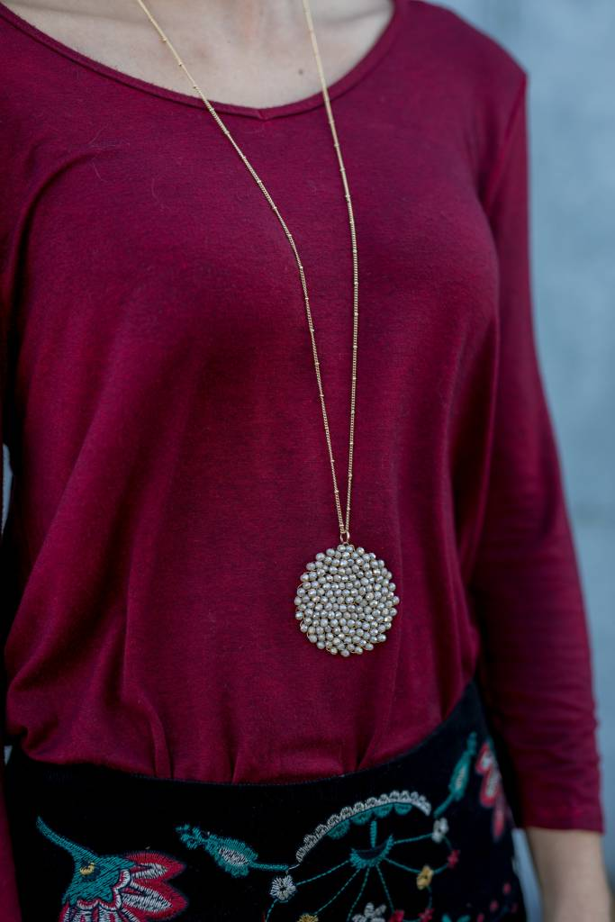 Long Medallion Necklace