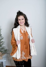 Camel Embroidered Blouse