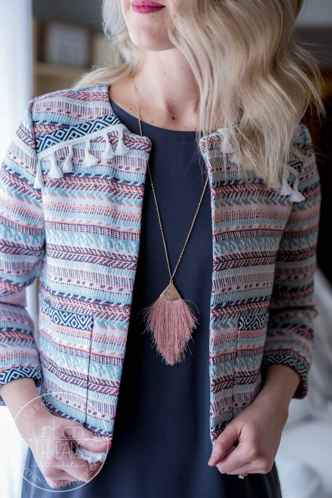 Blush Feathered Necklace