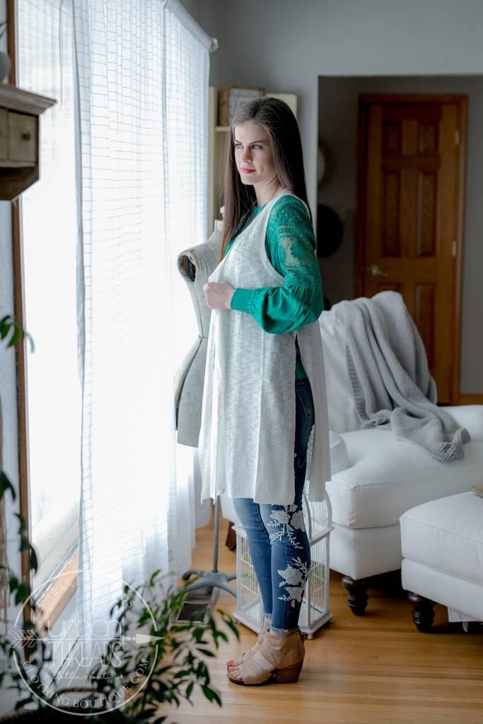 Abigail White Vest