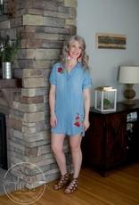 Printed Denim Dress