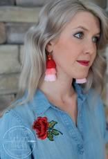 Red/Pink Tassel Earring