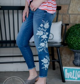 KUT Embroidered Connie Ankle Skinnies