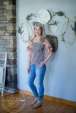 Antique Rose Embroidery Mesh Top