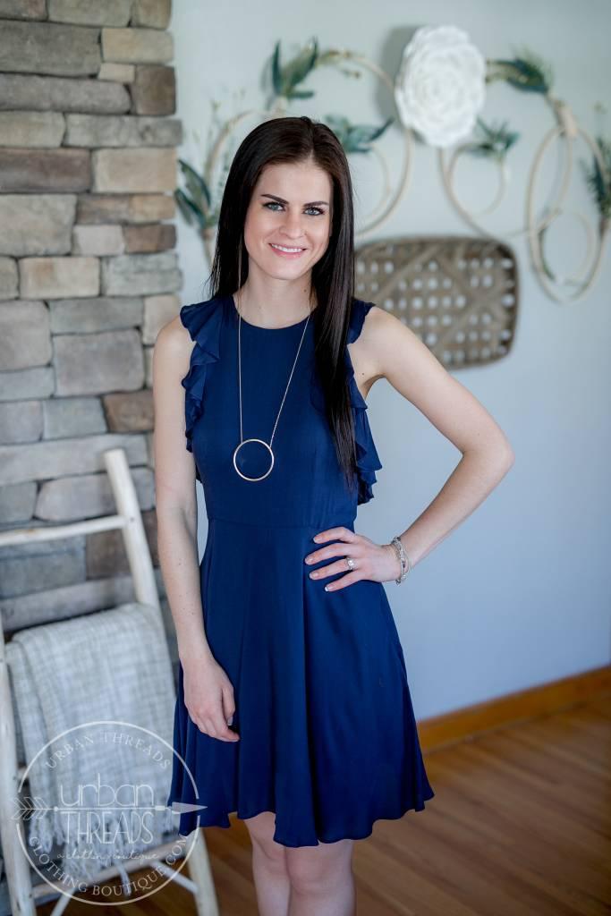 Samantha Vintage Blue Dress