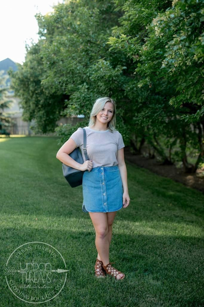 Macyn Light Blue Skirt