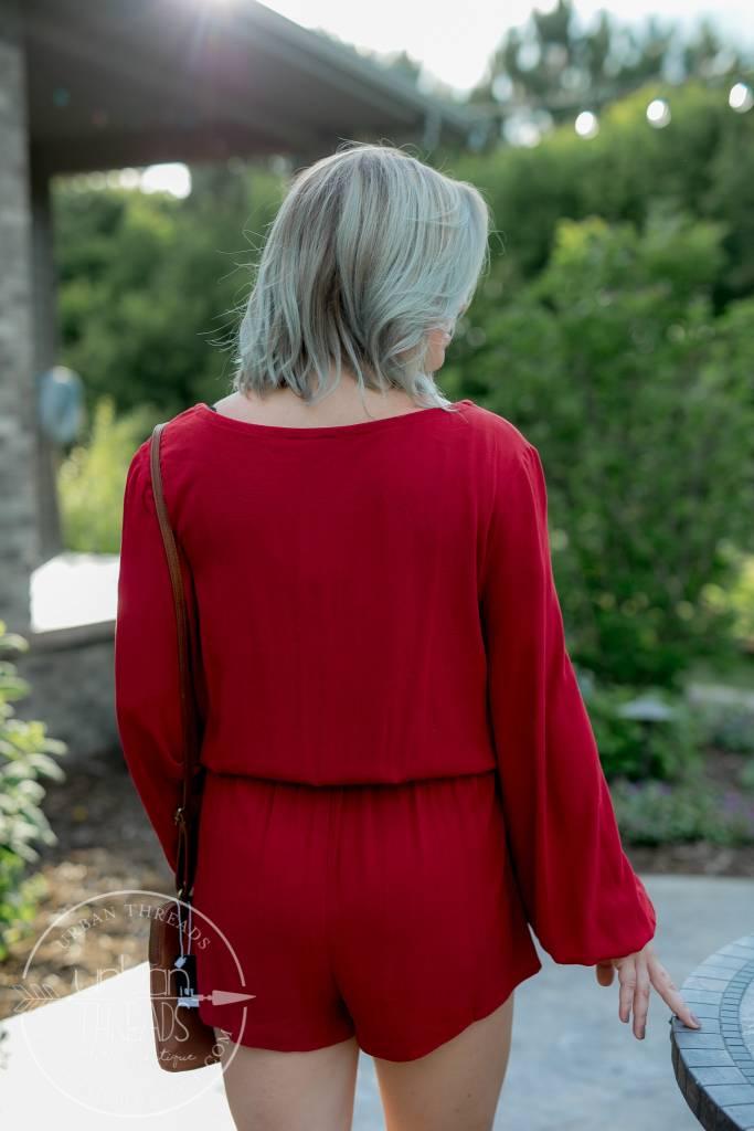 Ruby Red Romper